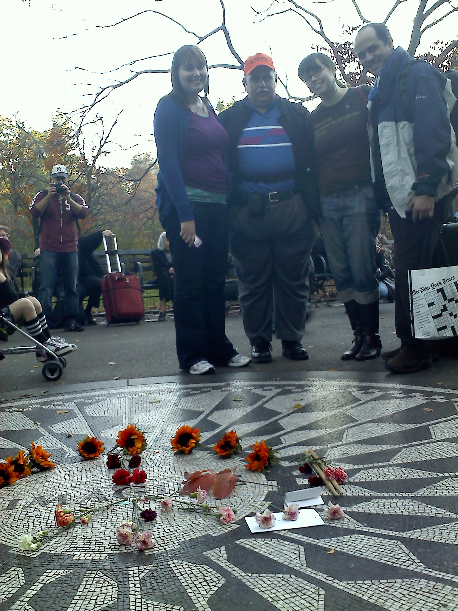 Allison, Frank, Caroline, Manny @ Strawberry Fields
