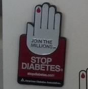 STOP Diabetes logo pin